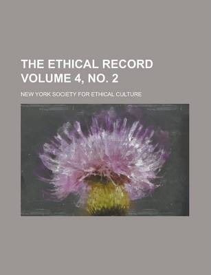The Ethical Record Volume 4, No. 2