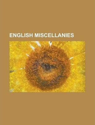 English Miscellanies