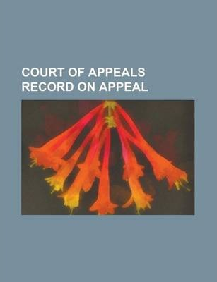 Court of Appeals Record on Appeal