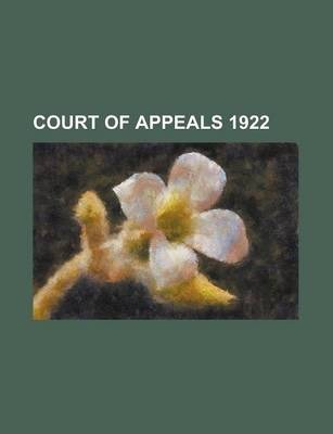 Court of Appeals 1922
