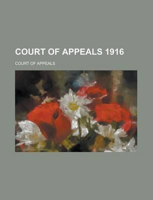 Court of Appeals 1916