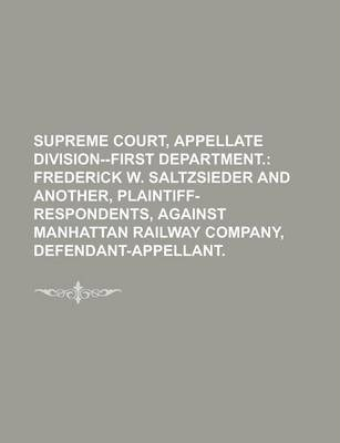 Supreme Court, Appellate Division--First Department