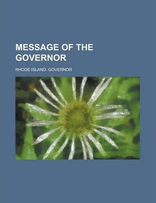 Message of the Governor