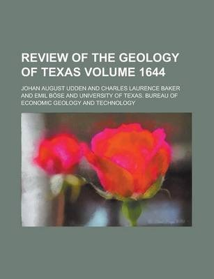 Review of the Geology of Texas Volume 1644