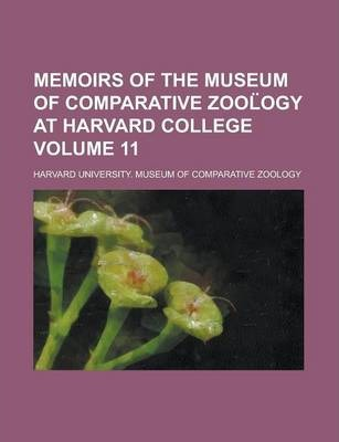 Memoirs of the Museum of Comparative Zool Ogy at Harvard College Volume 11