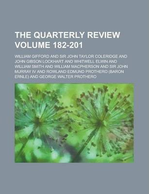 The Quarterly Review Volume 182-201