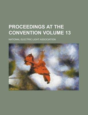 Proceedings at the Convention Volume 13