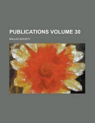 Publications Volume 30
