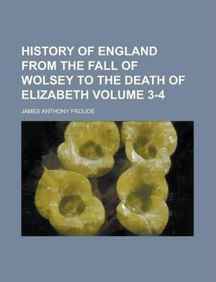 History of England from the Fall of Wolsey to the Death of Elizabeth Volume 3-4