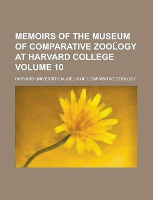 Memoirs of the Museum of Comparative Zool Ogy at Harvard College Volume 10