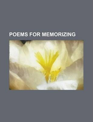 Poems for Memorizing