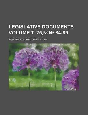 Legislative Documents Volume . 25, 84-89
