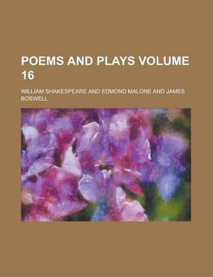 Poems and Plays Volume 16
