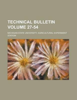 Technical Bulletin Volume 27-54