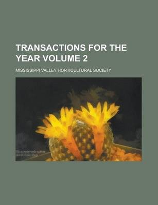 Transactions for the Year Volume 2