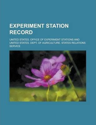 Experiment Station Record Volume 41