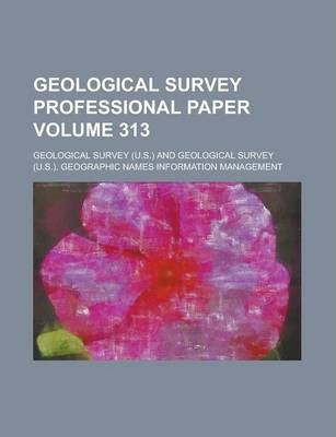 Geological Survey Professional Paper Volume 313