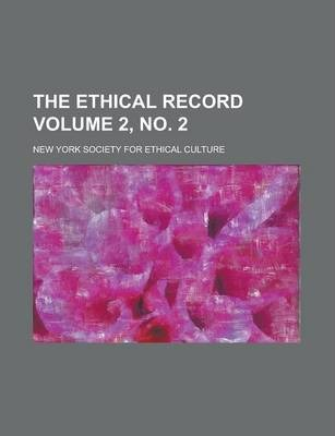 The Ethical Record Volume 2, No. 2
