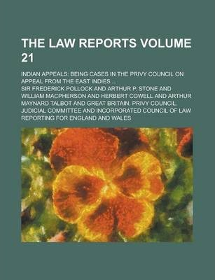 The Law Reports; Indian Appeals