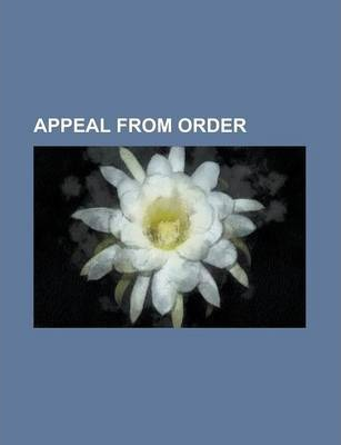 Appeal from Order