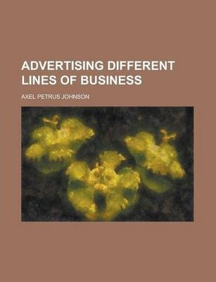 Advertising Different Lines of Business