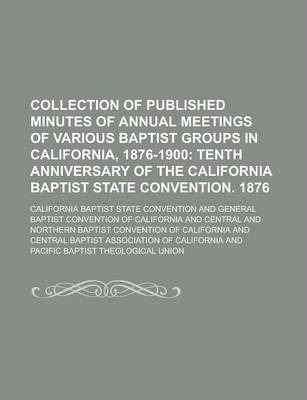Collection of Published Minutes of Annual Meetings of Various Baptist Groups in California, 1876-1900