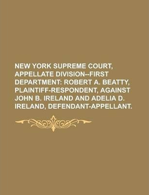 New York Supreme Court, Appellate Division--First Department