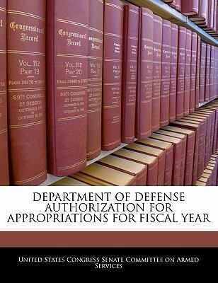 Department of Defense Authorization for Appropriations for Fiscal Year