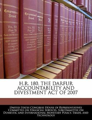 H.R. 180, the Darfur Accountability and Divestment Act of 2007