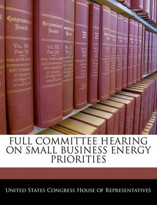 Full Committee Hearing on Small Business Energy Priorities