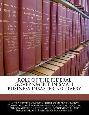 Role of the Federal Government in Small Business Disaster Recovery