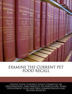 Examine the Current Pet Food Recall