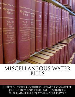 Miscellaneous Water Bills