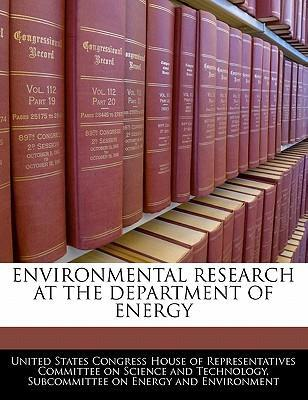 Environmental Research at the Department of Energy