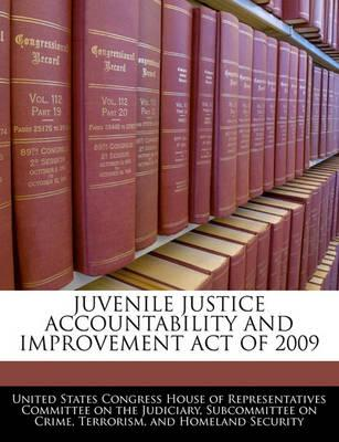 Juvenile Justice Accountability and Improvement Act of 2009
