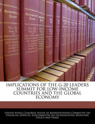 Implications of the G-20 Leaders Summit for Low-Income Countries and the Global Economy