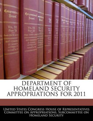 Department of Homeland Security Appropriations for 2011