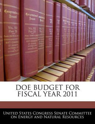 Doe Budget for Fiscal Year 2011
