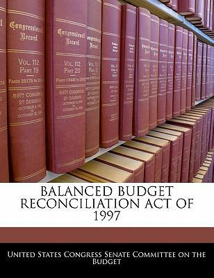Balanced Budget Reconciliation Act of 1997