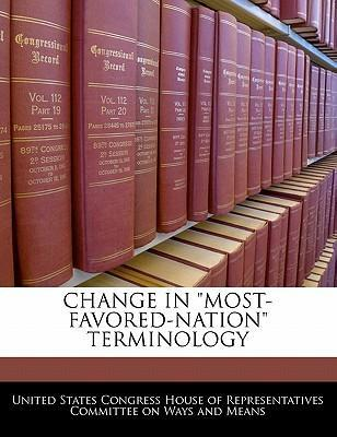 """Change in """"Most-Favored-Nation"""" Terminology"""