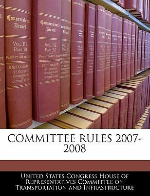 Committee Rules 2007-2008