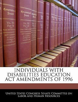 Individuals with Disabilities Education ACT Amendments of 1996