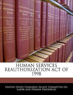 Human Services Reauthorization Act of 1998