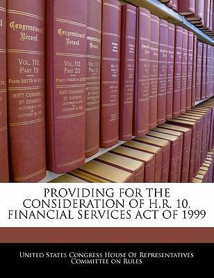 Providing for the Consideration of H.R. 10, Financial Services Act of 1999