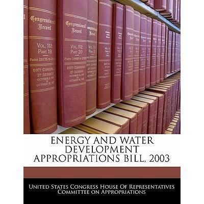 Energy and Water Development Appropriations Bill, 2003