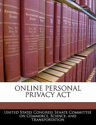 Online Personal Privacy ACT