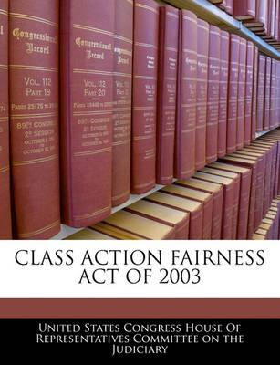 Class Action Fairness Act of 2003
