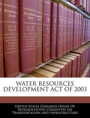 Water Resources Development Act of 2003