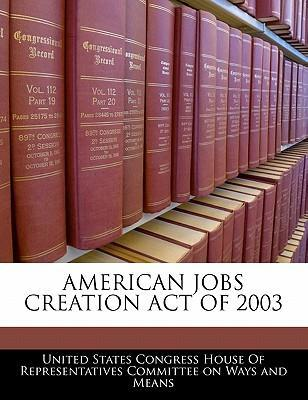 American Jobs Creation Act of 2003