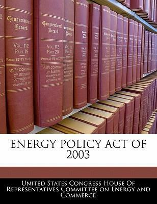 Energy Policy Act of 2003